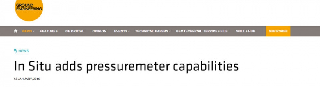 Our Pressuremeter Testing Services are featured in GE magazine!
